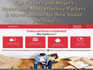 Top Packers and Movers Hyderabad:-Most effective Packers & Movers Meant for New house purchase