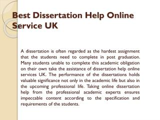 Dissertation Help Online- Get Dissertation Help Services UK by MyAssignmenthelp Experts
