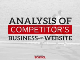 Analysis competitor's business and website public