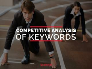 Competitive analysis of keywords insider