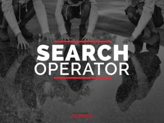 Search operators public