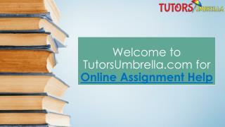 Online Assignment Services with TutorsUmbrella