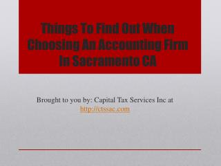 Things To Find Out When Choosing An Accounting Firm In Sacramento CA