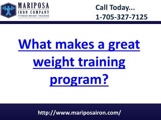 What makes a great weight training program?