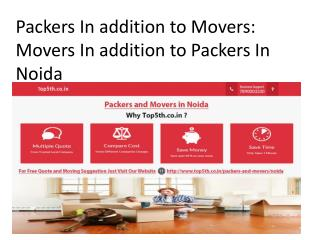 Packers In addition to Movers: Movers In addition to Packers In Noida