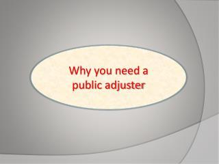 Public adjusting
