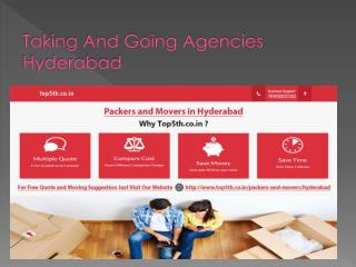 Taking And Going Agencies Hyderabad