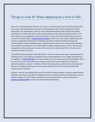Things to Look for When Applying for a Visa to USA.pdf