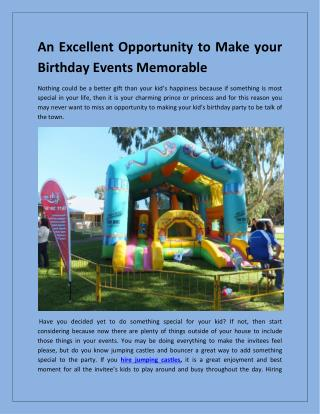 Hire jumping castles in Sydney