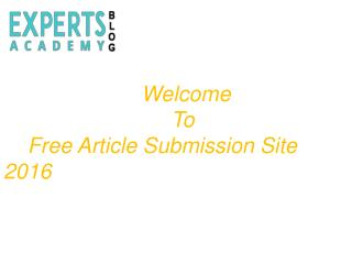 free Article submission site 2016