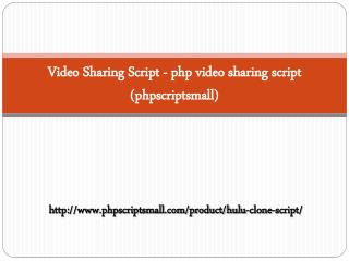 Video Sharing Script - php video sharing script (phpscriptsmall)