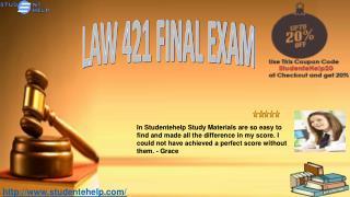 LAW 421 Final Exam