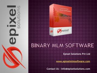 Binary MLM Software | Epixel Solutions
