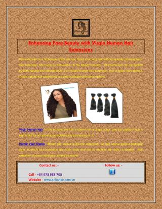 Enhancing Face Beauty with Virgin Human Hair Extensions