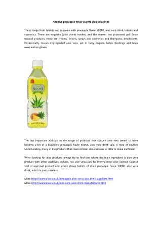 Additive pineapple flavor 500ML aloe vera drink
