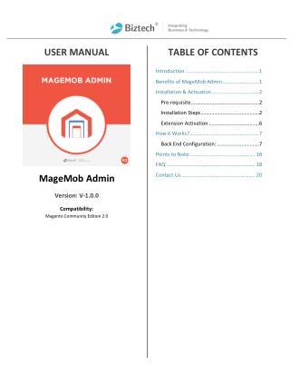 Magento 2 MageMob Admin Extension