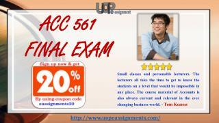ACC 561 Final Exam