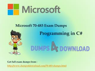Updated Microsoft 70-483 Dumps - Dumps4Download.com