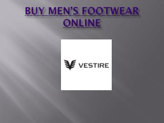 Buy Men's Footwear India