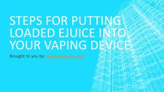 Steps For Putting Loaded Ejuice Into Your Vaping Device