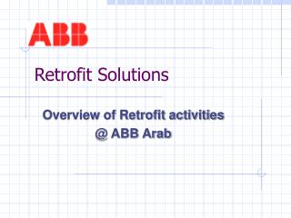 Retrofit Solutions