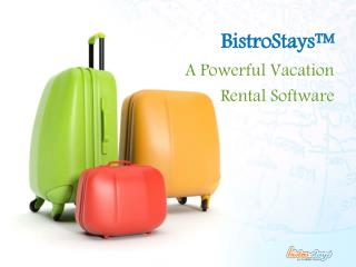 BistroStays A Vacation Rental Software