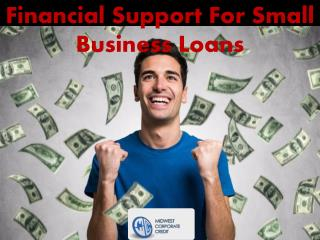 Financial Support For Small Business Loans
