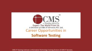 Career Opportunities in Software Testing