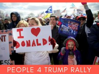 People 4 Trump rally