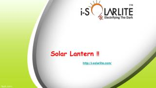 Buy Solar Lantern online with best affordable prices.