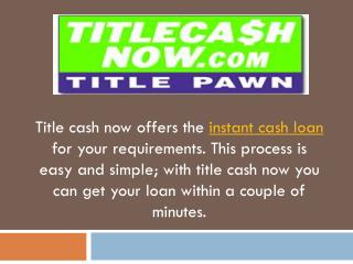 No Credit Check Loans Instant Approval Savannah | Title Cash Now