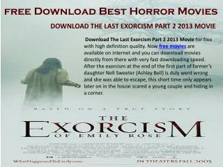 Best Hollywood Free Horror Movies Online Download Here