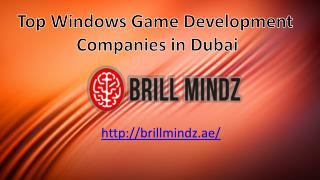 windows game development companies Dubai
