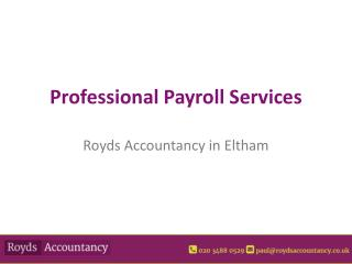 Professional Payroll From Royds Accountants