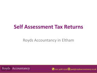 Self Assessment Accounting in Eltham