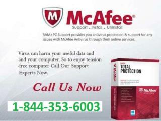 McAfee Antivirus Customer Service 1-844-353-6003 Phone Number