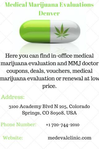 Medical Marijuana Evaluations Denver