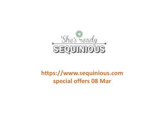 www.sequinious.com special offers 08 Mar
