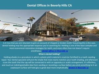 Dental Offices in Beverly Hills  CA