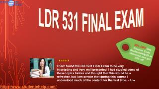 LDR 531 Final Exam