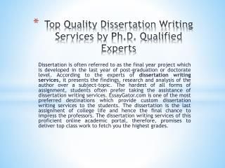 Dissertation Writing Services - Get Best Custom Dissertation Help by UK Experts