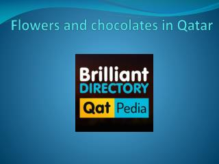 Flowers and chocolates in Qatar