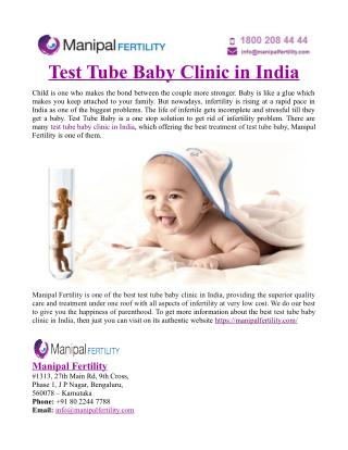 Test Tube Baby Clinic in India