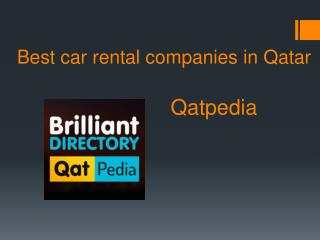 Car Rental Companies in Qatar