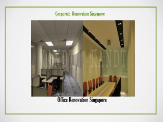 Corporate Renovation Singapore