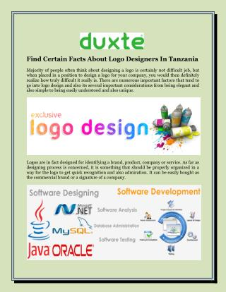 Find Certain Facts About Logo Designers In Tanzania