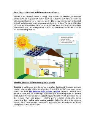 Roof Top Solar System Supplier