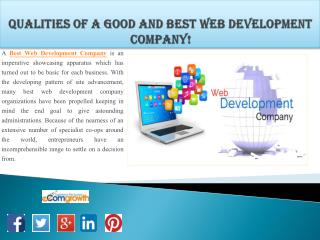 Qualities of a Good and Best Web Development Company!