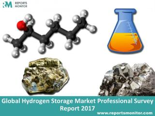 Hydrogen Storage Global Market, Industry Survey Report and Forecast