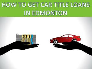 bad credit car loans in Edmonton
